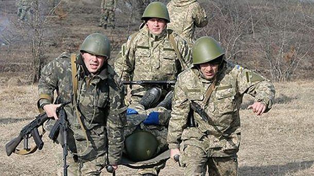 В общем ранения получили трое украинских бойцов