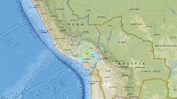 На юге Перу произошло мощное землетрясение
