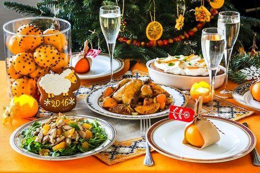 Новогодний стол в столице обойдется в среднем в 2000 гривен