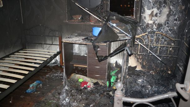 Загорелась квартира на 5 этаже