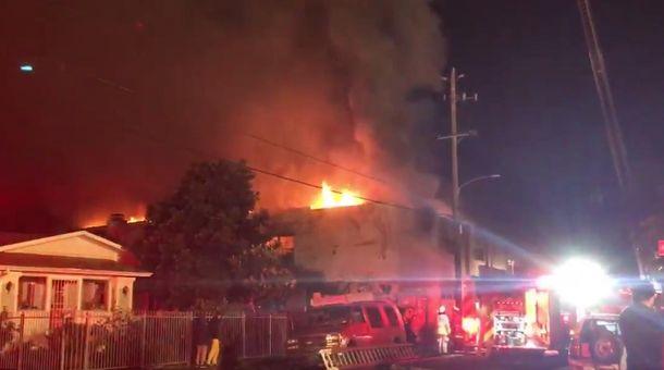 Пожар в клубе в США