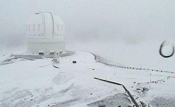 Снег на Гавайях