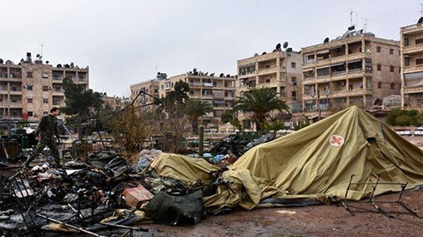 Мобільний військовий госпіталь у Алеппо