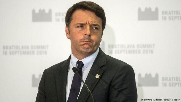 Итальянский премьер-министр Маттео Ренци подал в отставку