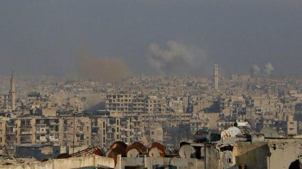 Алеппо страдает от постоянных бомбардировок