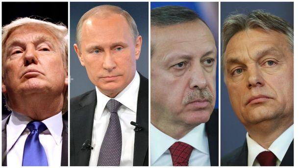 Трамп, Путін, Ердоган та Орбан