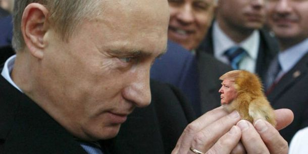 Володимир Путін та Дональд Трамп: фотожаба