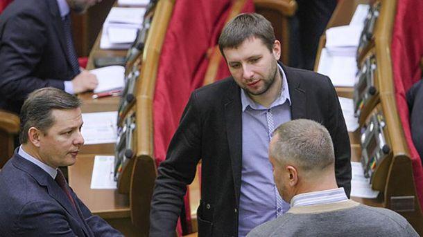 Владимир Парасюк (справа) в Верховной Раде