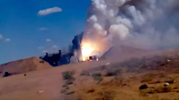 Взрыв российской ракеты