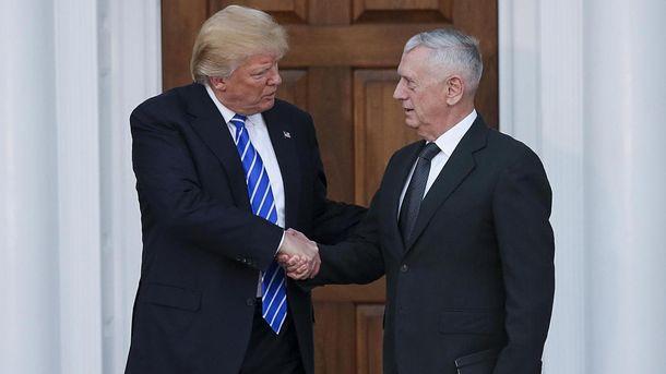 Дональд Трамп и новый министр обороны США Джеймс Маттис