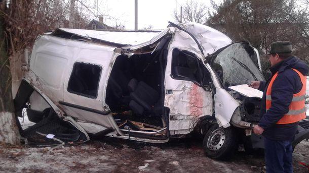 В аварії травм зазнало 10 людей