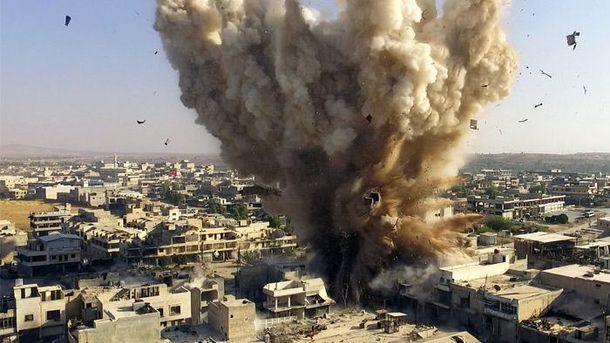 Бомбардировка в Алеппо