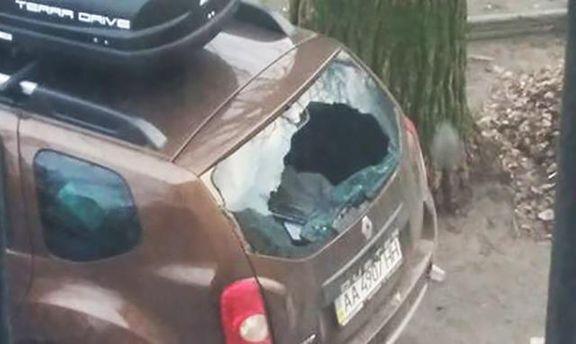 Разбитое авто Мирослава Гая