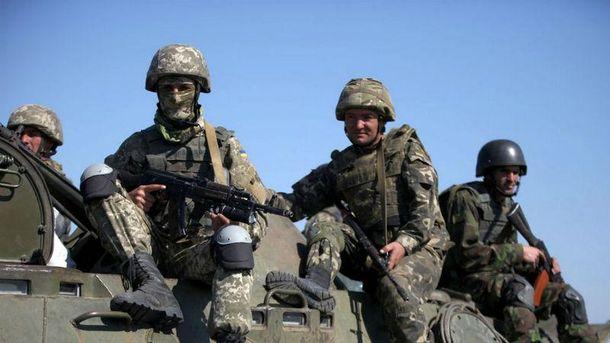 Украинские пехотинцы вблизи Мариуполя