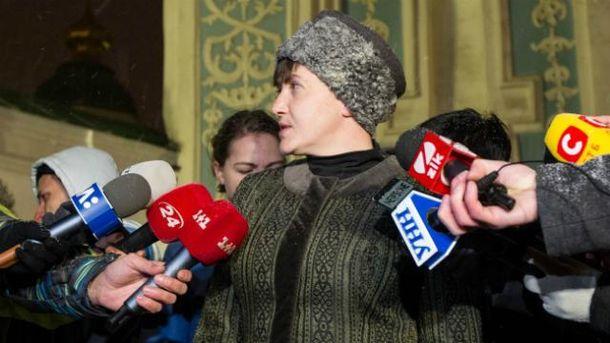 Савченко признала, что в Минске встречалась с главарями боевиков