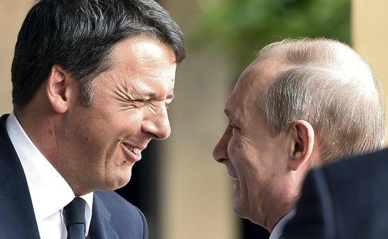 Маттео Ренці та Володимир Путін