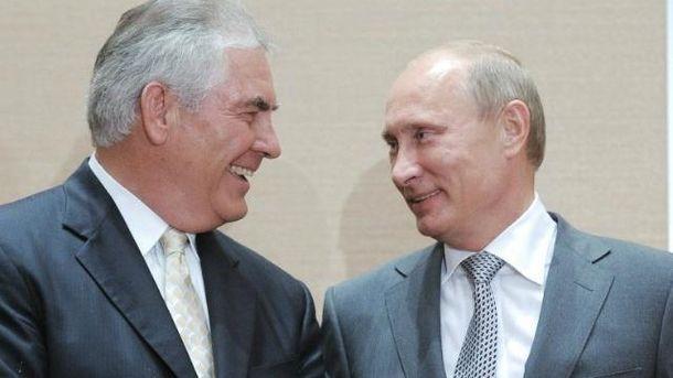 Путін з Тіллерсоном знайомі давно