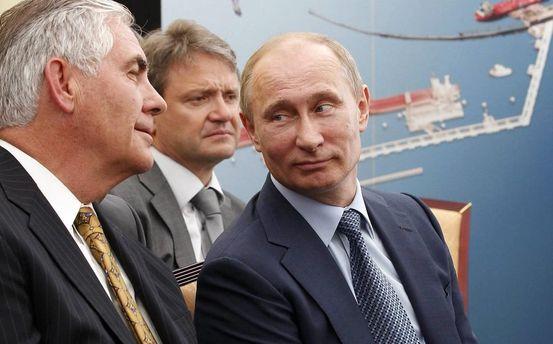 Путин с Тиллерсоном