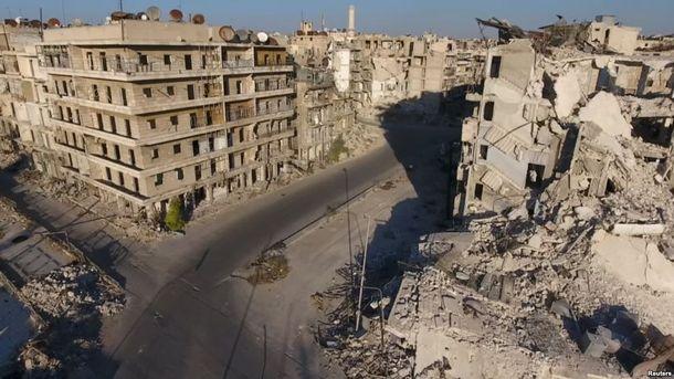Алеппо после боев 13 декабря