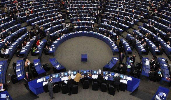 В зале Европарламента