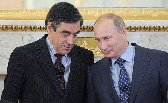 Франсуа Фийон и Владимир Путин