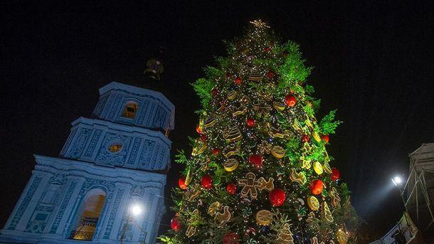Новогодняя елка в центре Киева