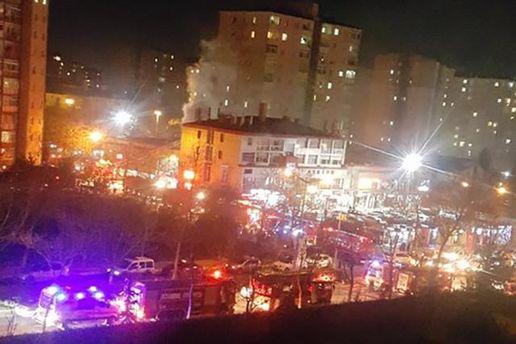 Место взрыва в Стамбуле