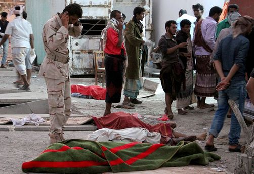 Место теракта в Йемене