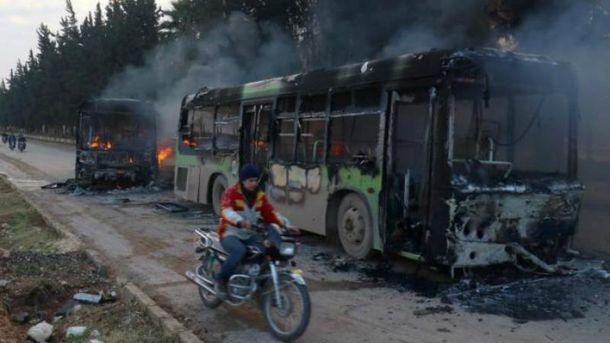Автобусы должны были забрать больных и раненых