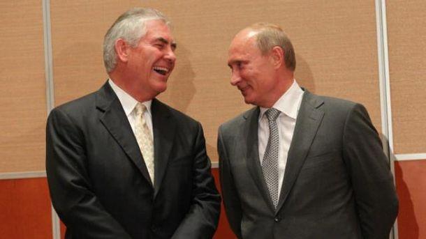 Тіллерсон свого часу навіть отримав нагороду з рук Путіна