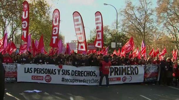 Протести в Мадриді