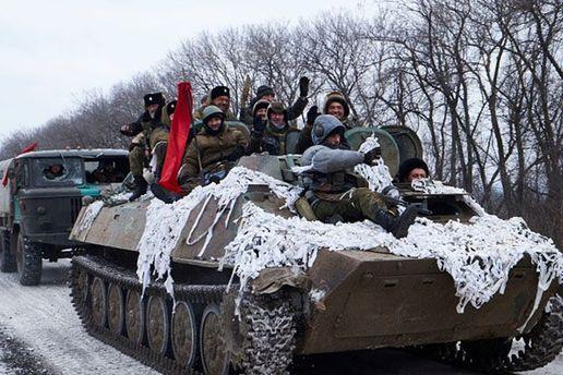 Боевики на  Донбассе.