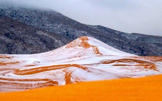 Снег в Сахаре