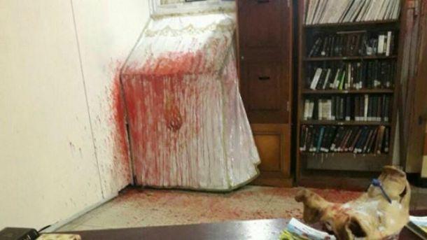 Ночью неизвестные осквернили синагогу на могиле Раби Нахмана