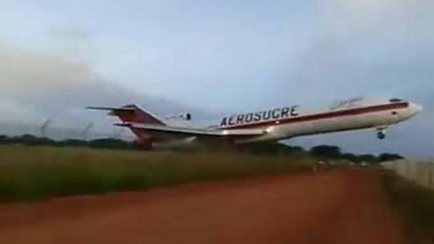 Самолет во время взлета