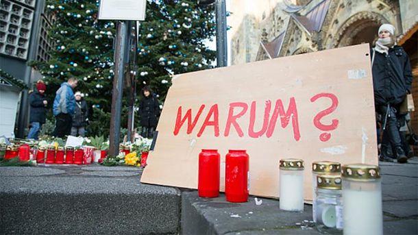 Почтении памяти жертв теракта в Берлине