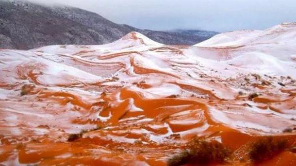 У Сахарі випав сніг