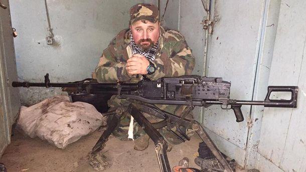 Захваченный пулемет и боец