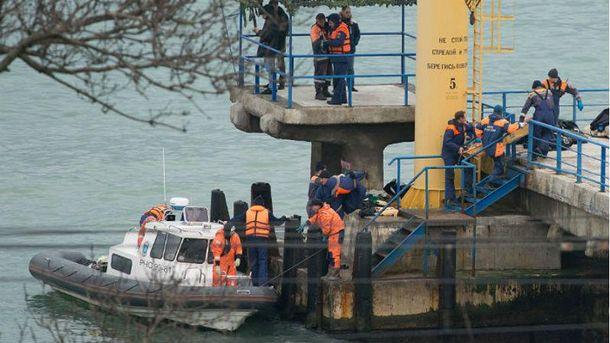 Поиски погибших в результате катастрофы Ту-154