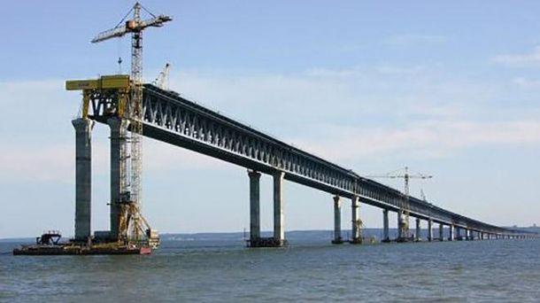 Будівництво Керченського мосту в окупованому Криму