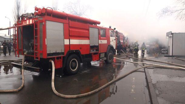Пожар на киевском рынке