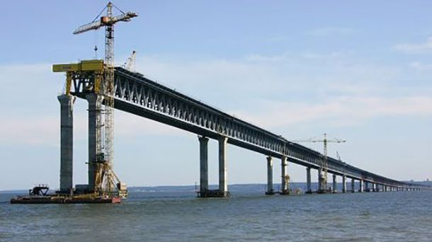 Строительство Керченского моста в оккупированном Крыму