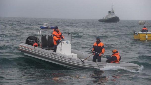 Рятувально-пошукові роботи на місці падіння російського Ту-154