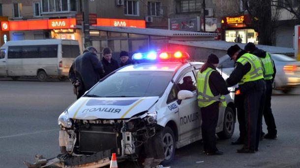 ДТП с участием полицейского патруля