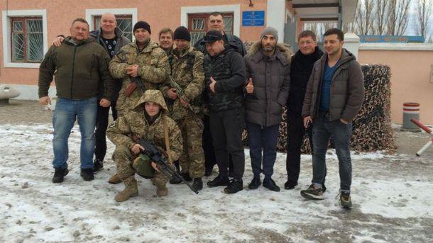 Кварталовцы встретились с бойцами