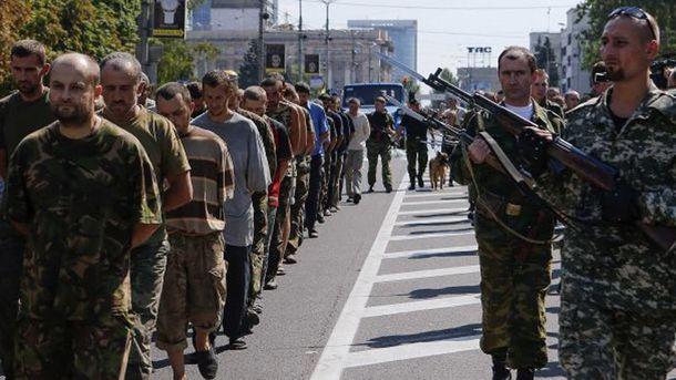 Українські полонені в руках терористів