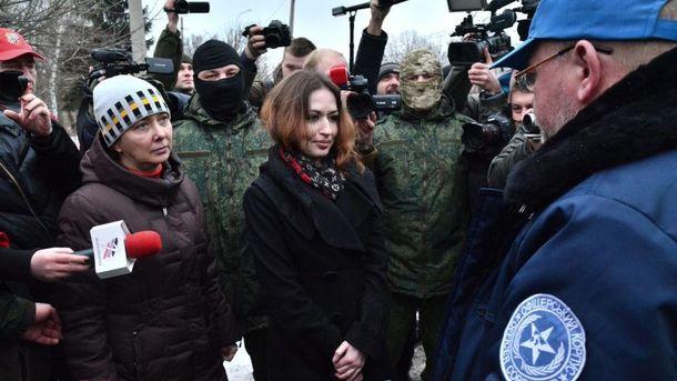 Процес передачі українських полонянок