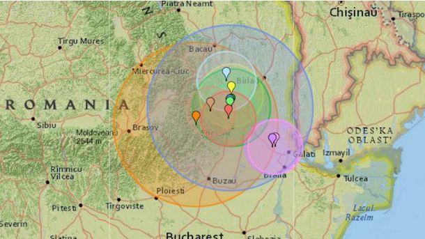 В 1:21 ночи землетрясение было ощутимо в Украине