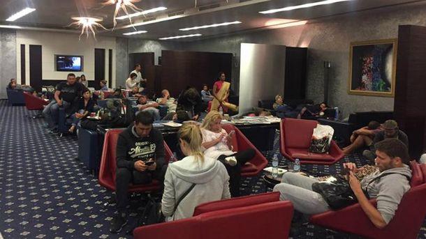 Некоторые украинцы провели в аэропорту более трех суток