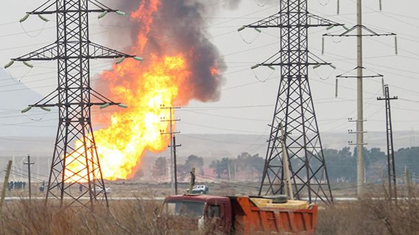 Взрыв на газопроводе произошел вблизи Баку